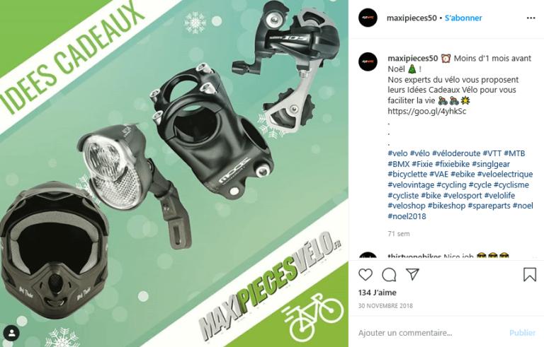 Compte Instagram Maxipièces Vélo